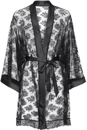 69976bb0a7e01b Mohito - Szlafrok o kimonowym fasonie z puszkiem - Czarny - Ceny i ...