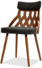 Ażurowe krzesło z drewna giętego CRABI orzech czarny Mebel