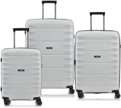 782f364182379 Komplet walizek z polipropylenu na 4 kółkach Titan Highlight - off white