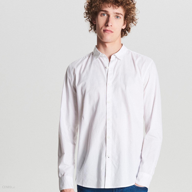 Gładka koszula z kieszenią Cropp Koszule męskie białe
