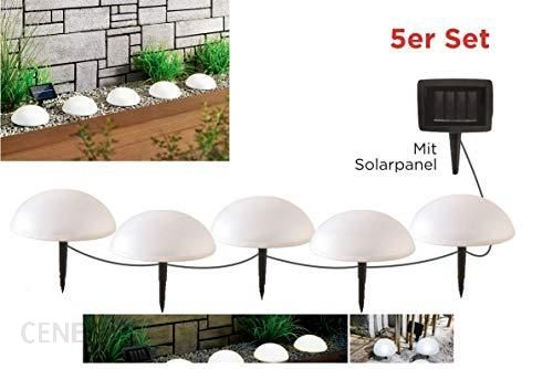 Amazon Alma Garden Solarna Lampa Ogrodowa Zestaw 5 Sztuk Półkule Z Panelem Solarnym Ok ø 15 Cm Wysokość 8 Cm Ceneopl
