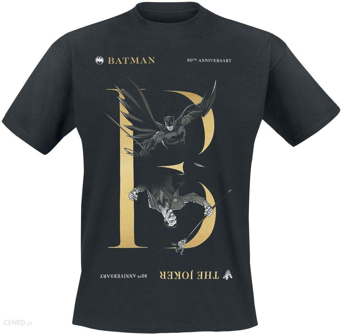 806aa1822 Batman - 80th - Batman/Joker - T-Shirt - Mężczyźni - czarny - Ceny i ...