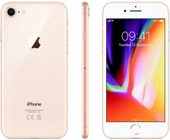 Produkt z Outletu: Apple Iphone 8 64GB Gold Złoty Szkło Etui Klasa