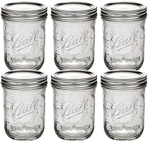 Amazon Ball Mason Jar 16oz Wide Mouth 6er Set Ceneo Pl
