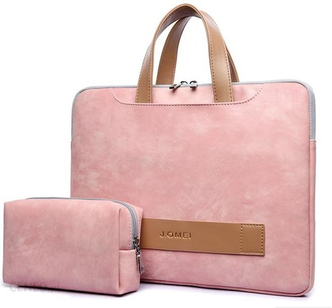 Torba na laptopa EtuiTorba Jq 13,3 14,1 Eco Skóra Różowy