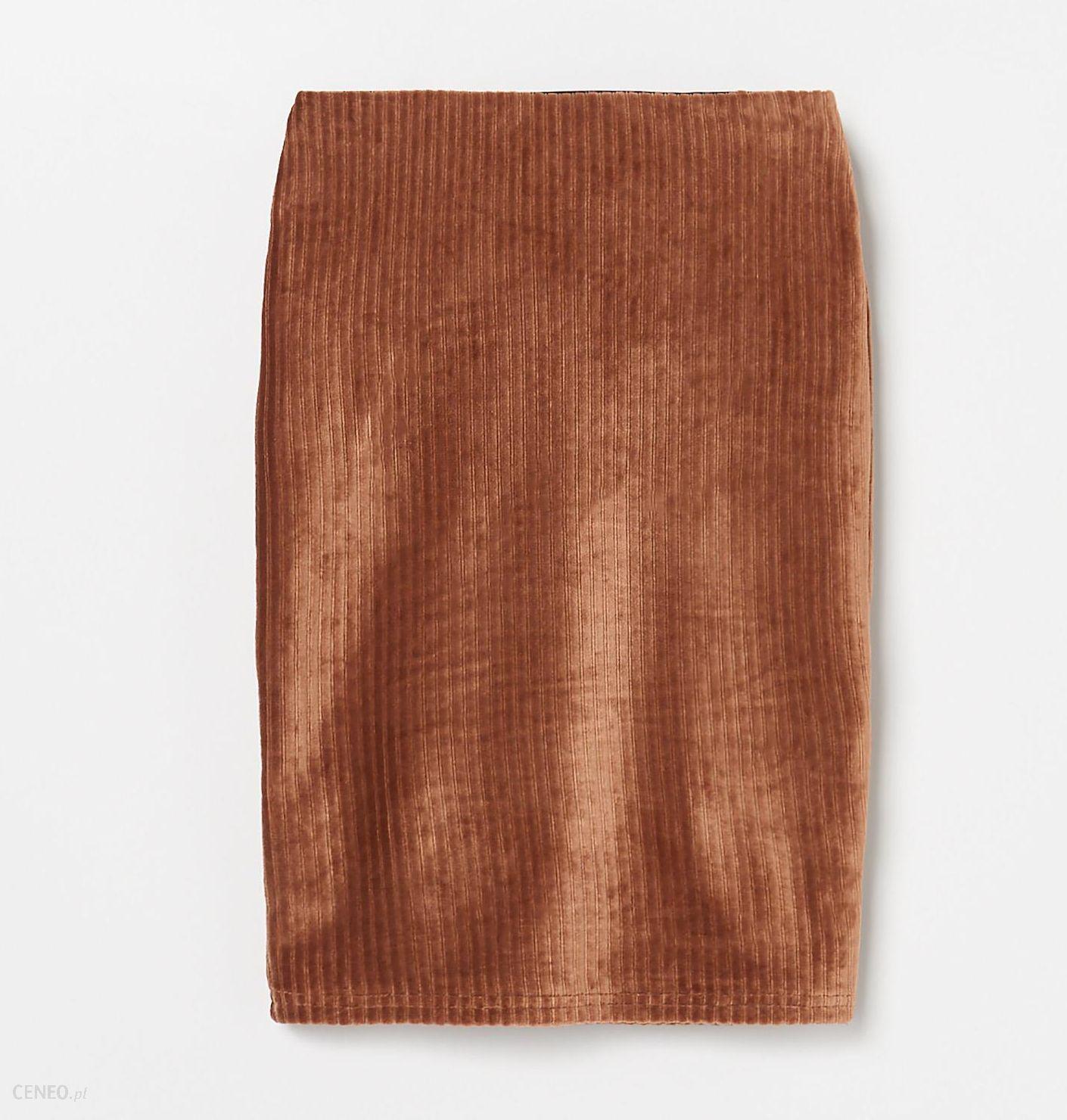 Sztruksowa spódnica brąz