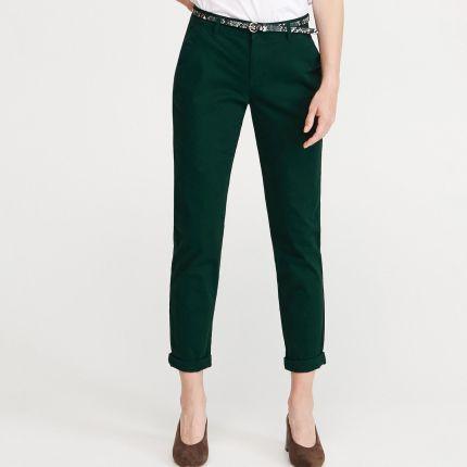 646d6da18f2d93 Reserved - Spodnie chino z paskiem - Khaki ...