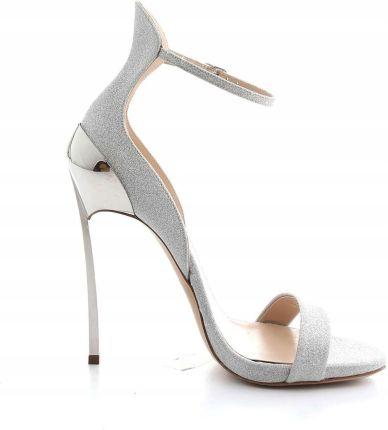 cbc508aa5d4a76 Casadei Kobiet Srebrny Sandały 37 It Allegro