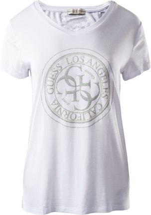 Marc Cain T shirt z błyszczącym nadrukiem z logo Ceny i