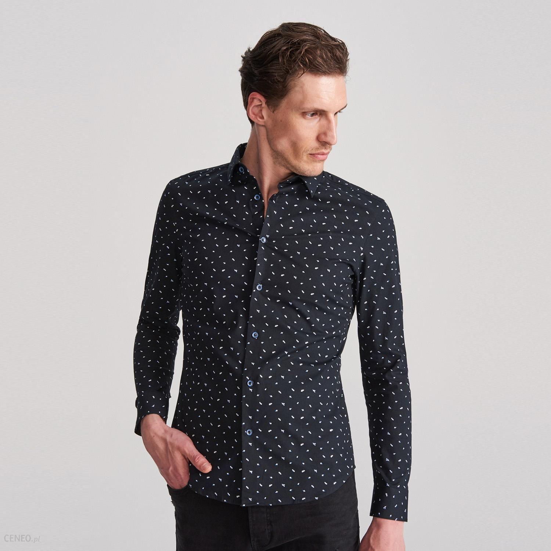 Reserved Koszula super slim fit Czarny Ceny i opinie  zYMlP
