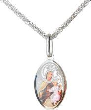 a4cbb1879c54cc Medalik srebrny (1,7 g) - Matka Boska Szkaplerzna dwustronnie kolorowa MK038