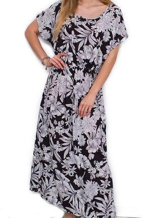 21ba670ec Wygodna Letnia Sukienka Maxi Kwiaty M/L R425 Allegro