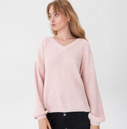 215a365347f6ea House - Sweter z szenili - Różowy ...