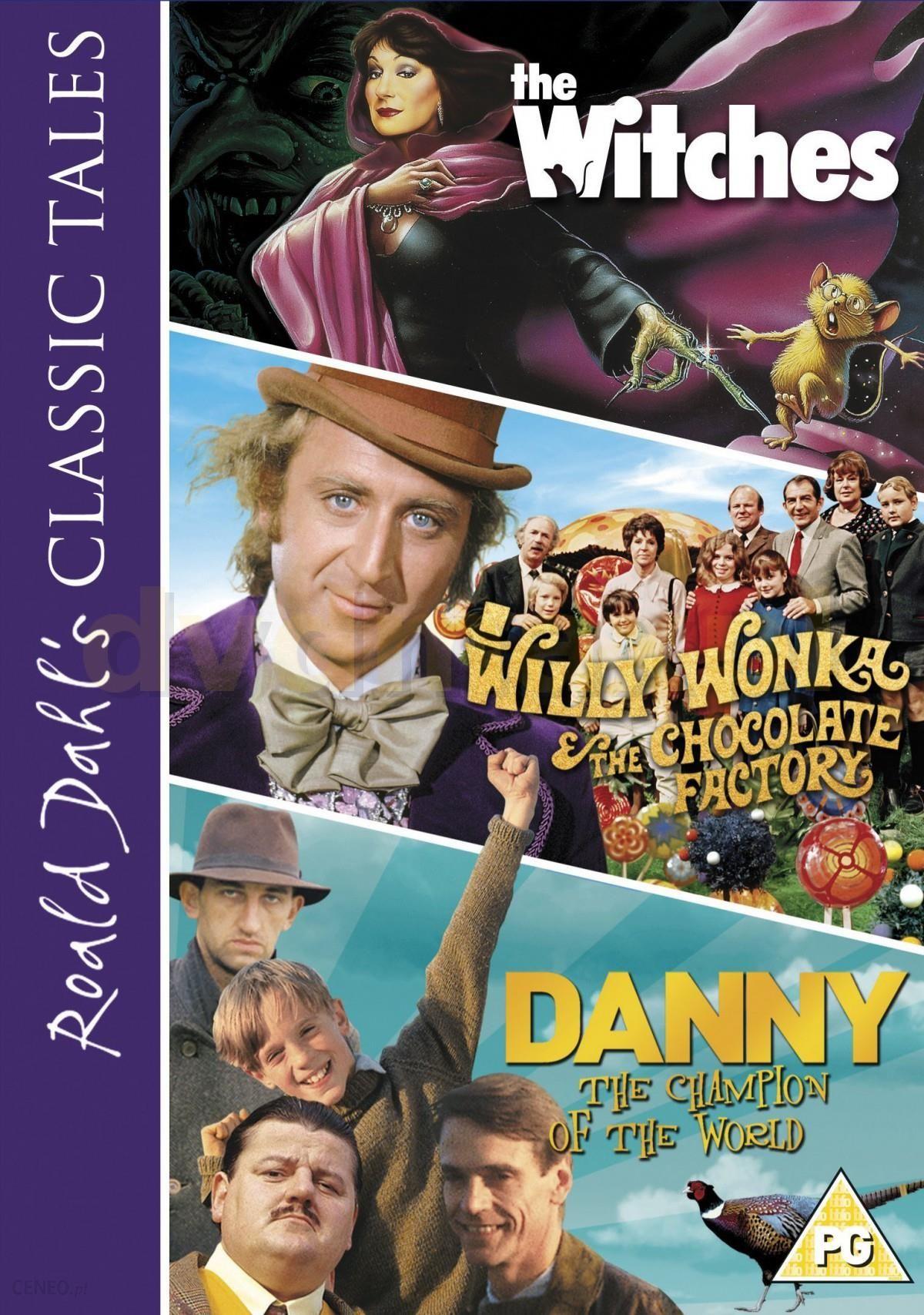 najlepiej online najlepiej sprzedający się sklep Film DVD Roald Dahl's Classic Tales: Danny Champion of the World / The  Witches / Willy Wonka and the Chocolate Factory [3DVD] - Ceny i opinie - ...