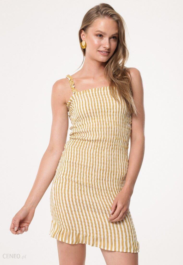 Żółta Sukienka Stumble Block