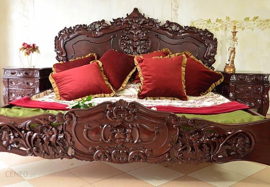 łóżko Do Sypialni łoże Mahoniowe Rzeźbione Stylowe Opinie I Atrakcyjne Ceny Na Ceneopl
