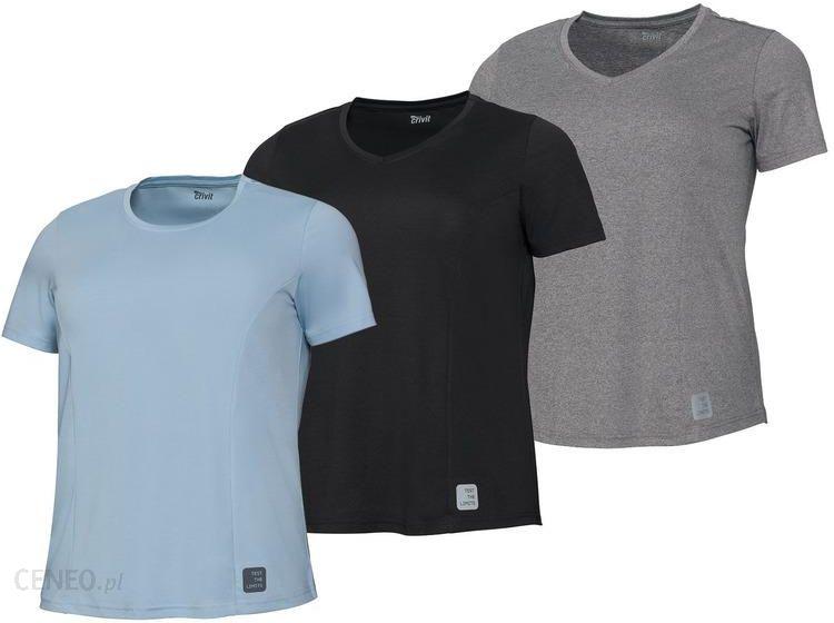 Czarna męska koszulka Crivit L sportowa w Koszulki i t