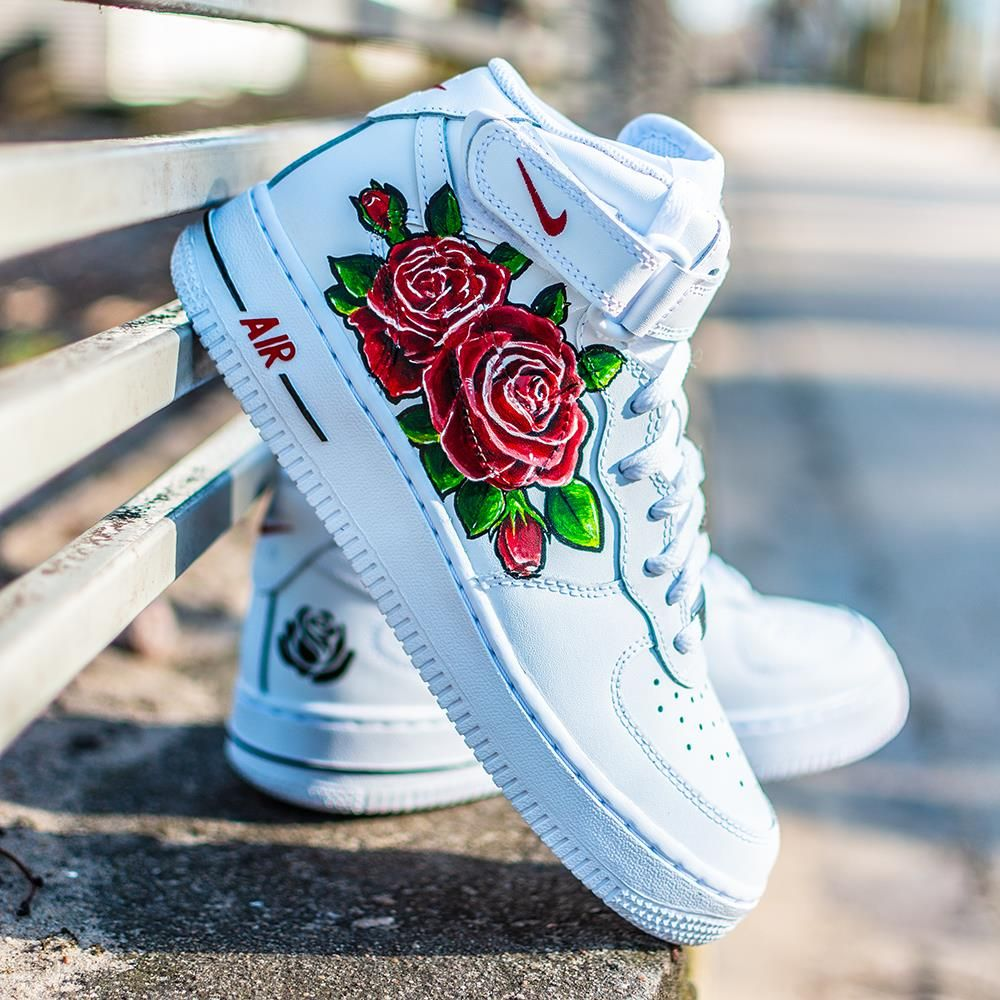 Nike Air Force 1 MID GS Rose Custom 5 314195 113 Ceny i opinie Ceneo.pl