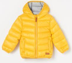 773216f4a1f121 Reserved - Ocieplana kurtka z kapturem - Żółty ...