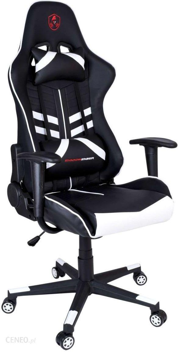 Ehokery Fotel Gamingowy Biurowy Shadow Gamer Czarno Biały