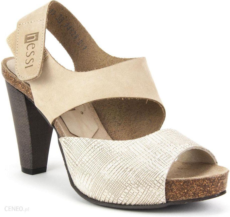 Beżowe Sandały damskie Nessi 42103 buty R.37 Ceny i opinie Ceneo.pl