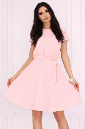75196d4c3a2bc6 Romantyczna, plisowana sukienka/pudrowa rozmiar L Allegro