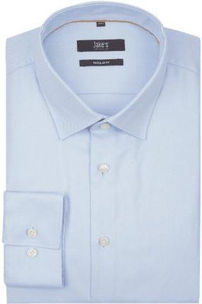 57806696a Koszula biznesowa o kroju modern fit z diagonalu z kołnierzykiem typu new  kent ...