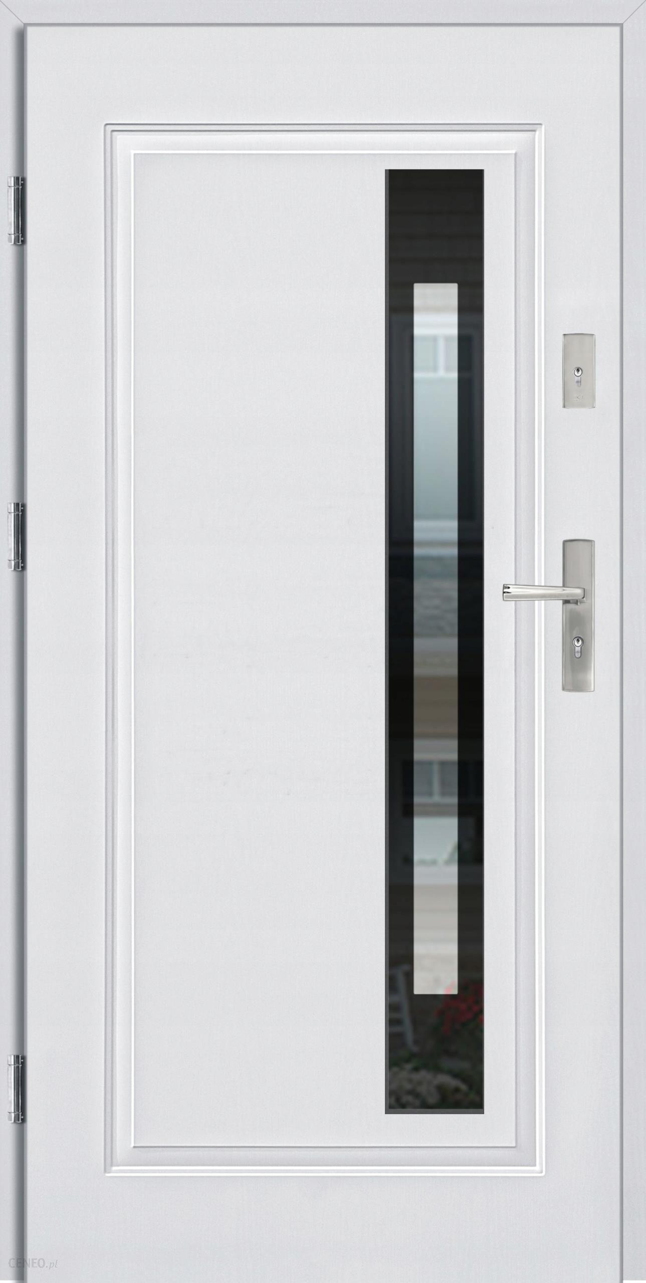 Lenkiškos lauko durys baltos / juodos, 55 mm storio 90