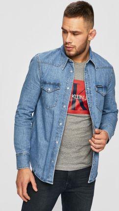 496cae2a4 Reserved - Jeansowa koszula - Niebieski - męska - Ceny i opinie ...
