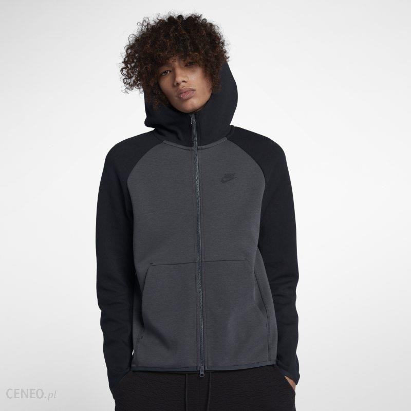 c2299525f2460a Nike Męska bluza z kapturem i zamkiem na całej długości Nike Sportswear  Tech Fleece - Czerń