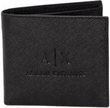 e714257c795ff3 Armani Exchange Mężczyzn Czarny Portfele Uni Int Allegro