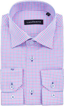 5bfe93e6c Bawełniana koszula męska biała w niebieskie paski SLIM FIT - Ceny i ...