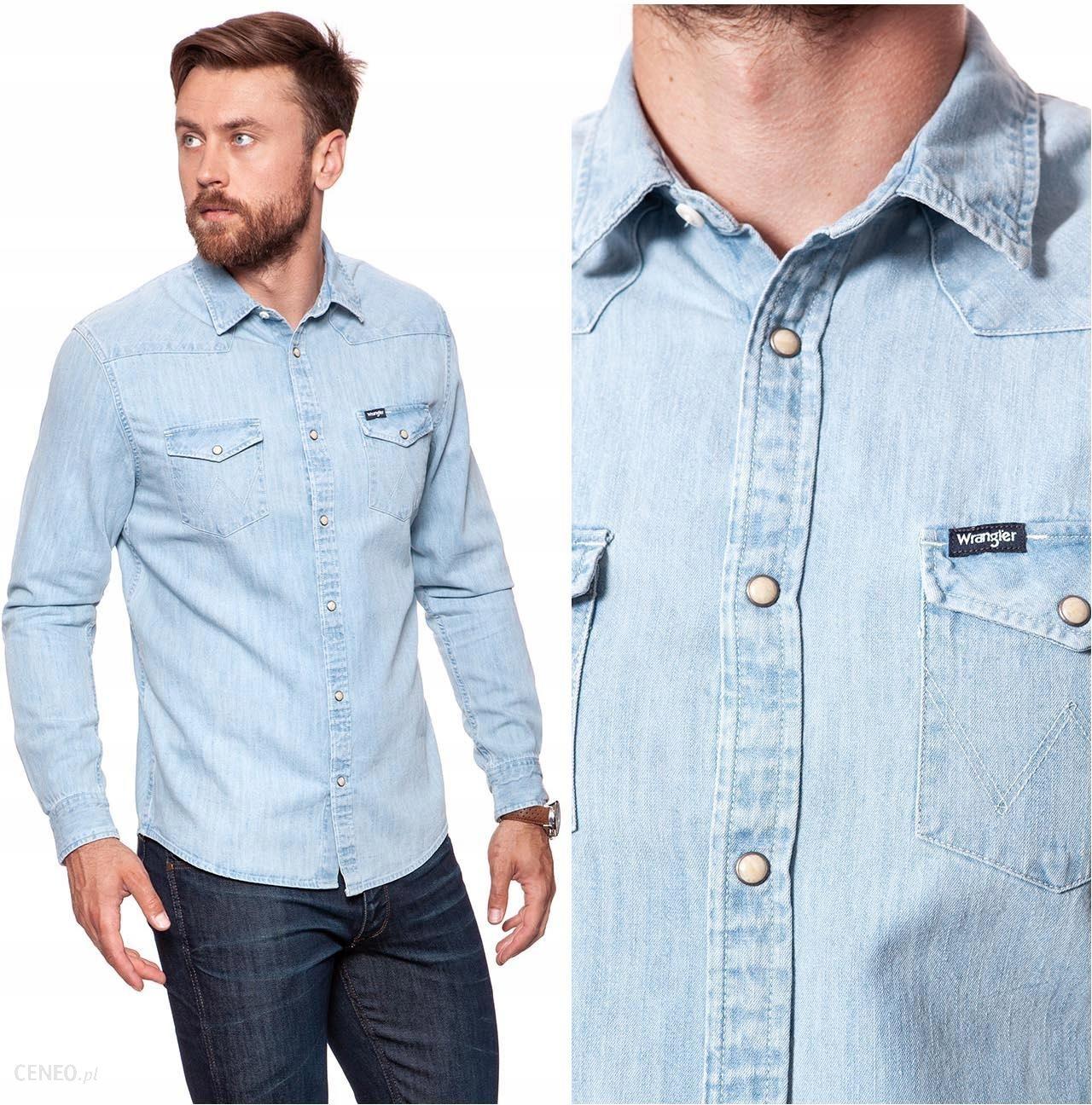 Wrangler Western Shirt Koszula Męska Jeansowa L Ceny i  fE09Y