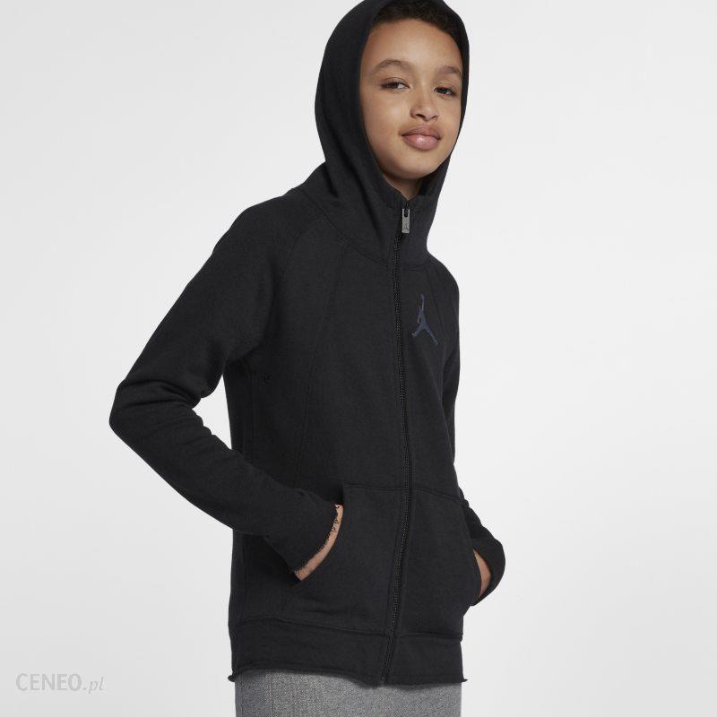 Nike Rozpinana bluza z kapturem dla dużych dzieci (chłopców) Jordan Sportswear Wings Lite Czerń Ceny i opinie Ceneo.pl