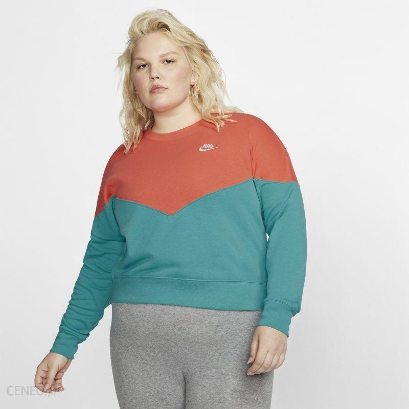 Nike Damska bluza z dzianiny Nike Sportswear Heritage (duże rozmiary) Zieleń Ceny i opinie Ceneo.pl