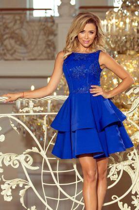4af2626e0f061c Numoco CHARLOTTE Ekskluzywna sukienka z koronkowym dekoltem 200 ...