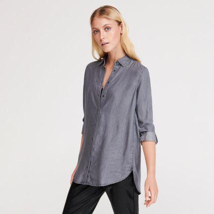 f8d83252417c92 Reserved - Jeansowa koszula z Tencelu™ - Szary ...