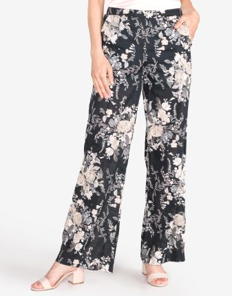 92e1b974 Spodnie materiałowe damskie w cętki brązowe Haily's - odcienie brązu ...