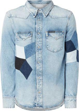 1e4ec1466 Calvin Klein Jeans Koszula jeansowa o kroju modern fit z naszywkami ...