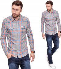 Wrangler Western Denim Shirt Męska Koszula Reg L Ceny i  ZKyvQ
