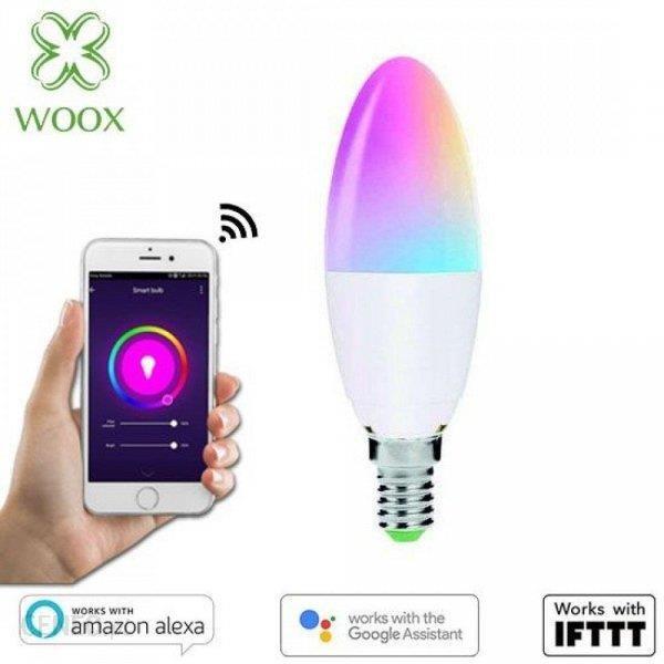 Woox Smart Led Wifi Kolorowa Rgbw 4 5W E14 2700K (740764)