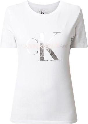 e981b803535169 Calvin Klein Jeans T-shirt z nadrukiem z logo ...
