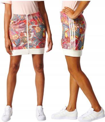 3735f4d5d Adidas Spódnica Spódniczka Mini Kwiaty Trefoil M Allegro