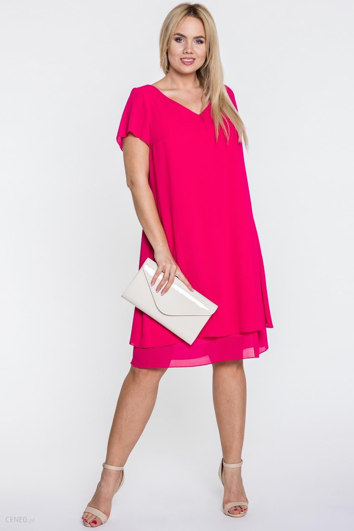 Amarantowa Sukienka Z Wiazaniem Na Plecach Ceny I Opinie Ceneo Pl