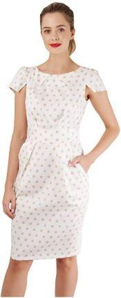 7712f096aaea33 Closet London Sukienka damska Sukienka z plisowaną spódnicą tulipanową  Ivory (rozmiar ...