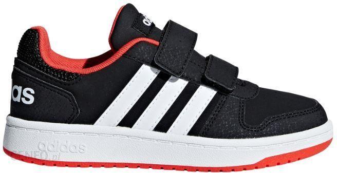 Buty dla dzieci adidas Hoops 2.0 CMF I czarno czerwono białe