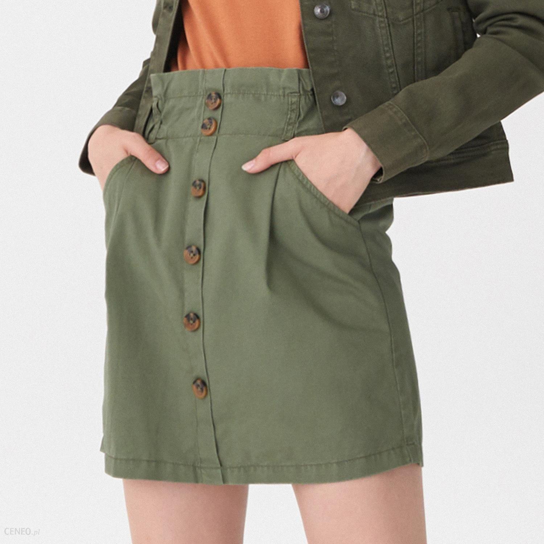 Spódnica z guzikami House Spódnice damskie zielone w House