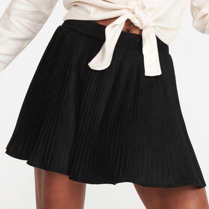 6396c14b Mohito - Mini spódnica ze skóry ekologicznej - Czarny - Ceny i ...