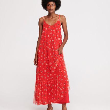 fa99e58306868a Reserved - Koronkowa sukienka midi - Fioletowy - Ceny i opinie ...