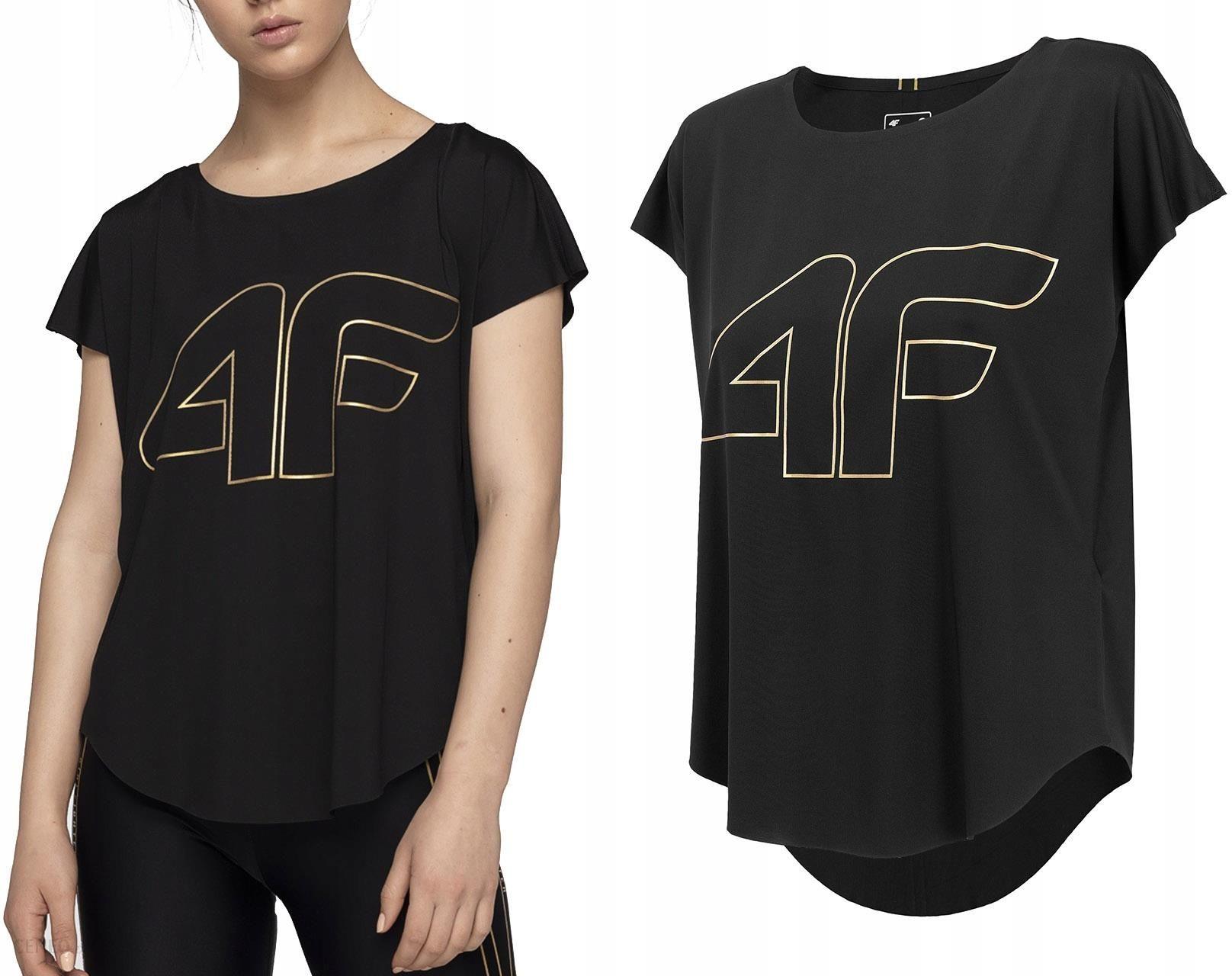 5c484cb37c0b7f 4F Koszulka Damska T-shirt Fitness oversize czarna - Ceny i opinie ...